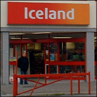iceland supermarket Side of an Iceland lorry