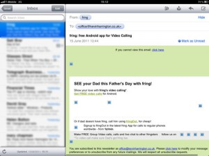 Fathers day email from Fring