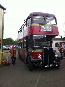 City of Oxford bus fleet number 166, registration number PWL 413, type AEC Rt III-Weymann