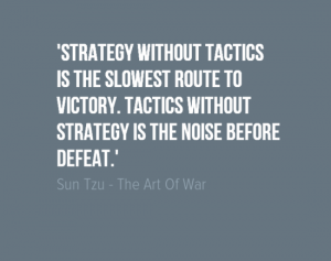 Strategy without tactics â