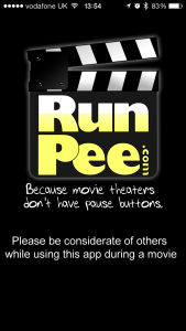 RunPee for when you are crossing your legs â