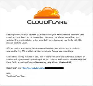 Cloudfare upsell â