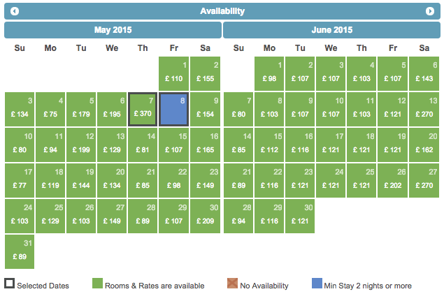 ABode Hotel Chester, room prices