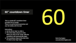 60 second countdown timer for use on Keynote